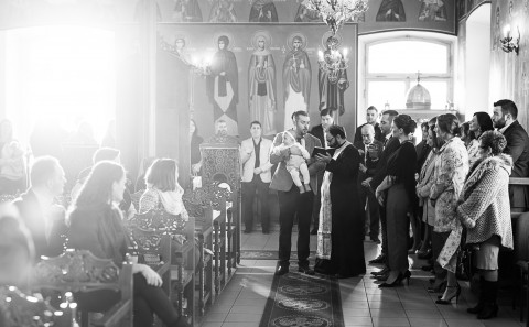 Panorame bei der Taufe in der griechisch orthodoxen Kirche in Mühlacker - Euripidis Photography
